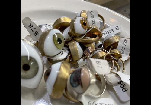 Jess Vintage Small Eyeball Ring