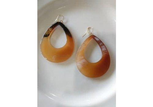 The Workroom Tortoise Teardrop Earrings