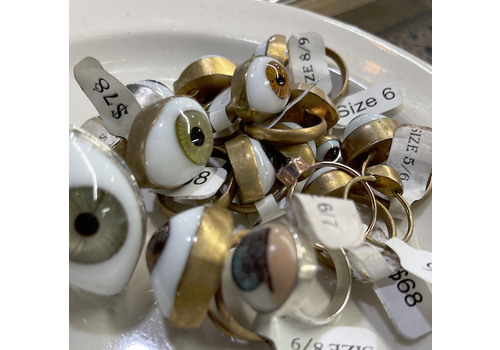 Jess Vintage Extra Large Eyeball Ring