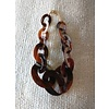 The Workroom Tortoise Shell Circle Necklace