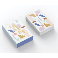 White Multicolor Shapes Playing Cards
