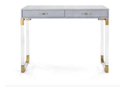 Imax Misty Shagreen and Acrylic Console Table