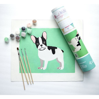 Pink Picasso Kids Dog Paint by Number