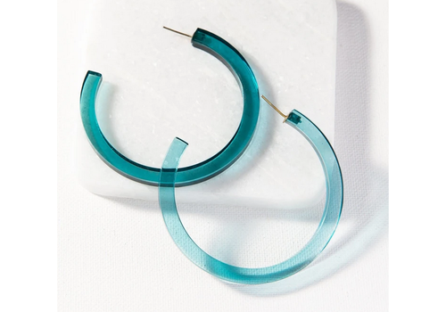 Ink + Alloy Small Lucite  Hoop Earring