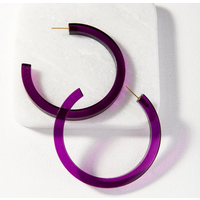 Lucite Small Hoop Earring