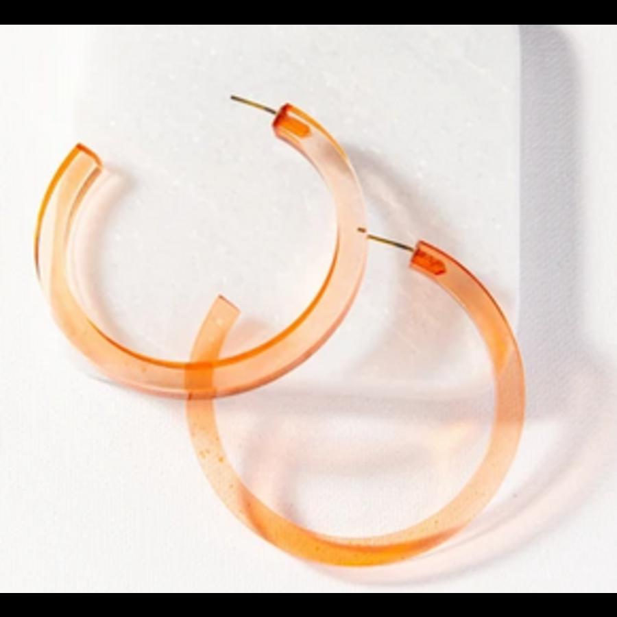 Lucite Hoop Earring
