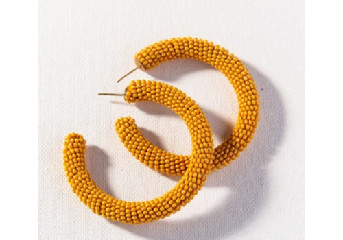 Ink + Alloy Seed Bead Hoop Earring