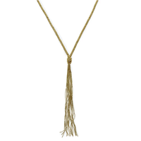 Brass Long Chain w/ Tassel