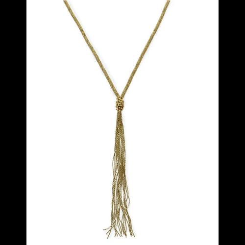 Ink + Alloy Brass Long Chain w/ Tassel