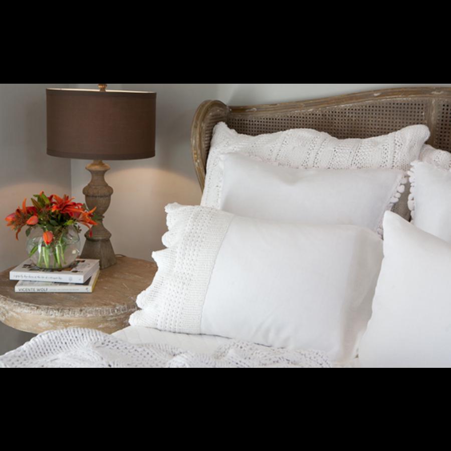 Evelin Linen Crochet Pillowcases
