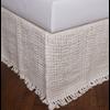 "Trawich Linen 21"" Drop 3 Panel Bed Skirt, Ivory, Queen"