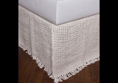 """The Workroom Trawich Linen 21"""" Drop 3 Panel Bed Skirt, Ivory, Queen"""