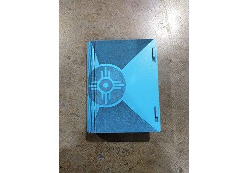 "Steve Thornton Wood Living Hinge Book Box Medium 5x4x1.5""  Painted"