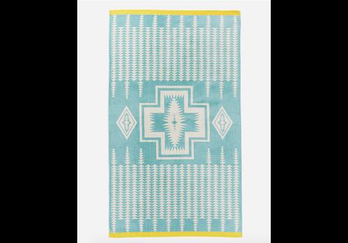 Pendleton Oversized Spa Towel Harding Aqua