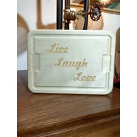 Live Laugh Love Cheese Tray