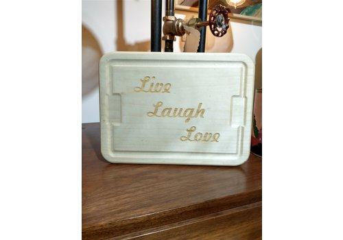 Gary Kline Live Laugh Love Cheese Tray