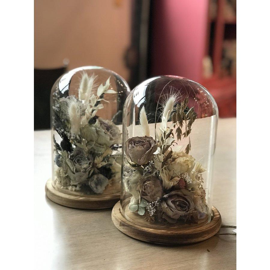 Dried Rose Arrangement in Glass
