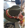 One of a kind Workroom Hat Green w/ scarf