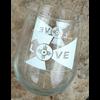 ICTMakers Love Flag Stemless Wine Glasses