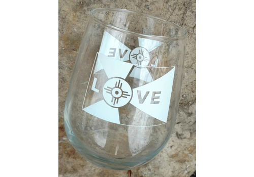ICTMakers Love Flag Stemless Wine Glasses