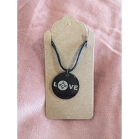 Black Stainless Love Wichita Necklace