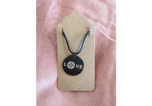 ICTMakers Black Stainless Love Wichita Necklace