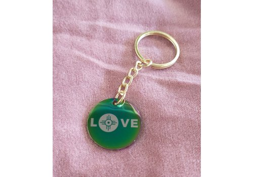 ICTMakers ICTMakers Holo Love Wichita Stainless Keychains