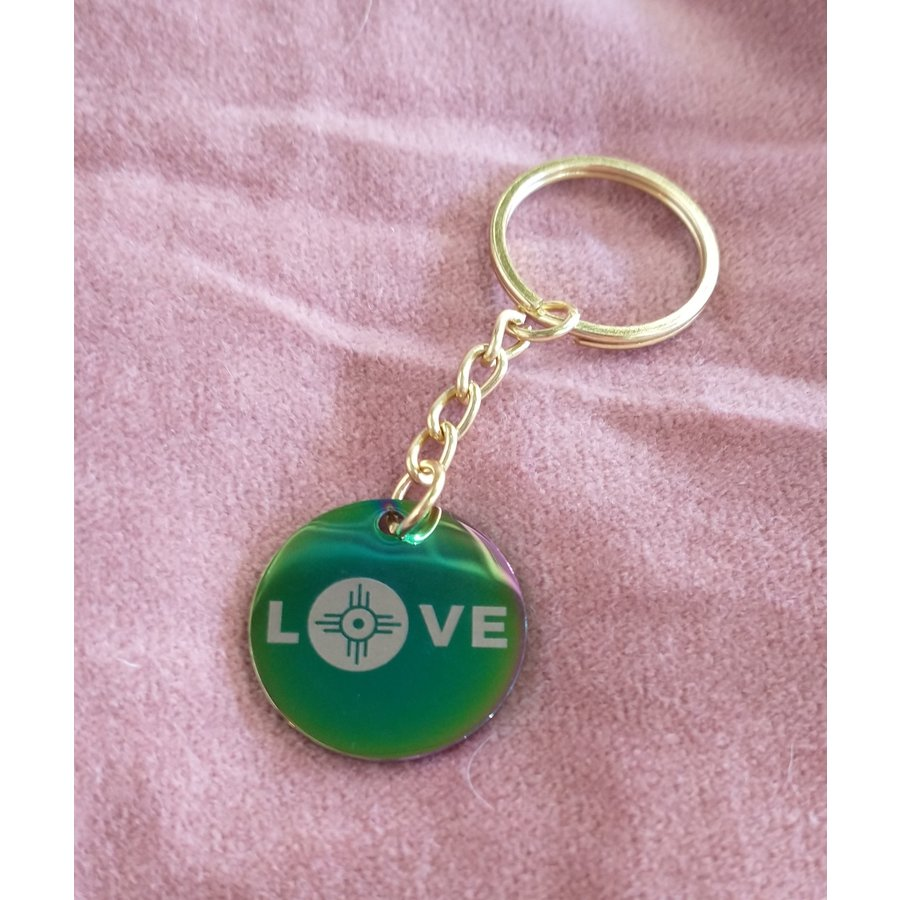 ICTMakers Holo Love Wichita Stainless Keychains