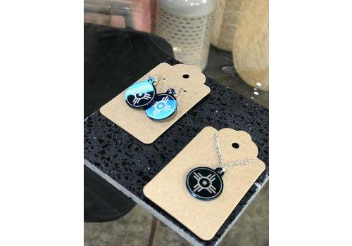 ICTMakers Stainless Steal, Blue Hogan Earrings