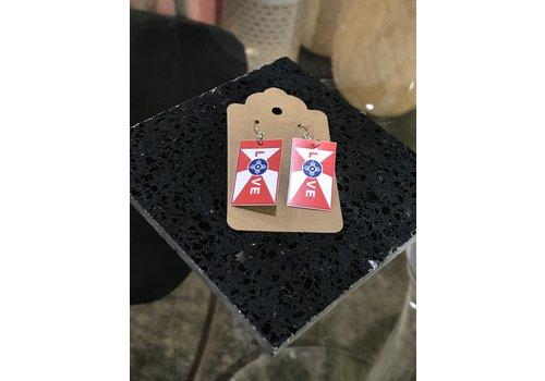 ICTMakers Love ICT Flag Earrings