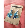 Morgan Martinez Studio Handmade Quilling Paper Earrings- Blues and Cream