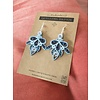 Morgan Martinez Studio Handmade Quilling Paper Earrings- Blue Chandeliers