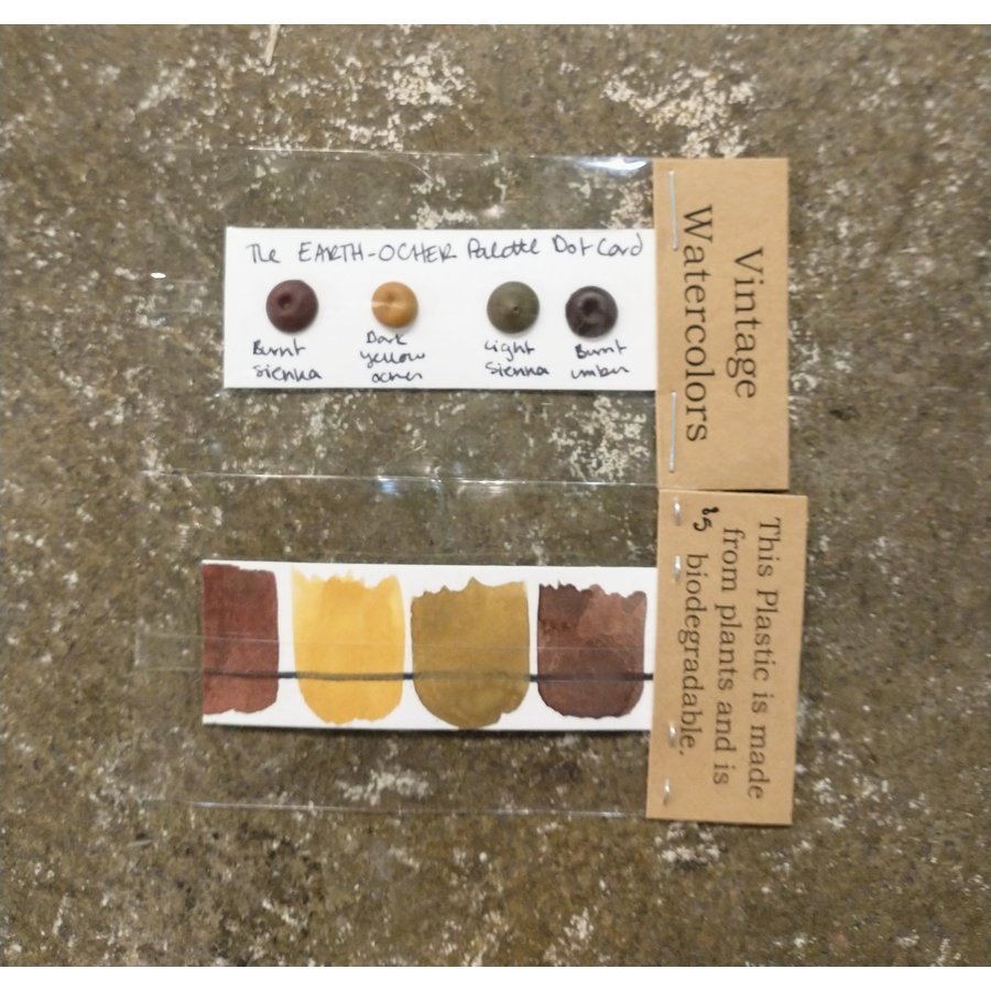 The Earth- Ocher Palette Dot Card