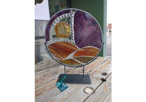 "Renee Harpenau Journey 15"" Stained Glass w/ Stand"