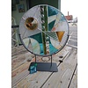 """Transend 15"""" Round Stained Glass w/ stand"""