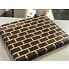 DougOutCrafts End grain brick wall cutting board