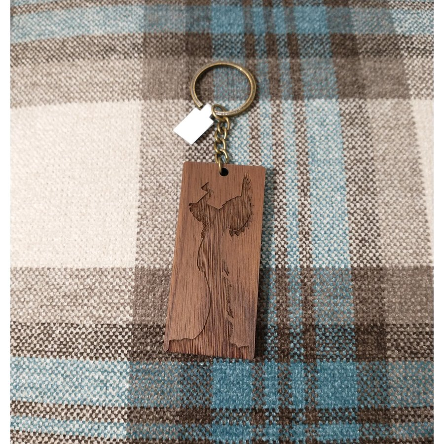 ICTMaker Wood Keychain  Rectangle (thick) Keeper