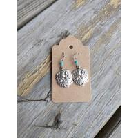 ICTMakers Bison Earring w/ turqouise