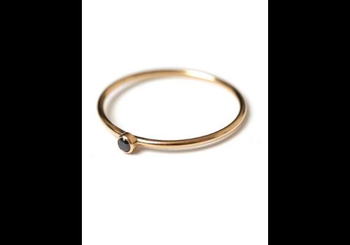 kozakh Dia Black Ring