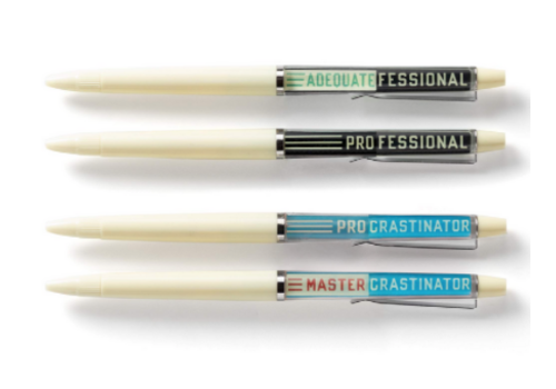 Brass Monkey Professional Procrastinator Floaty Pen Set