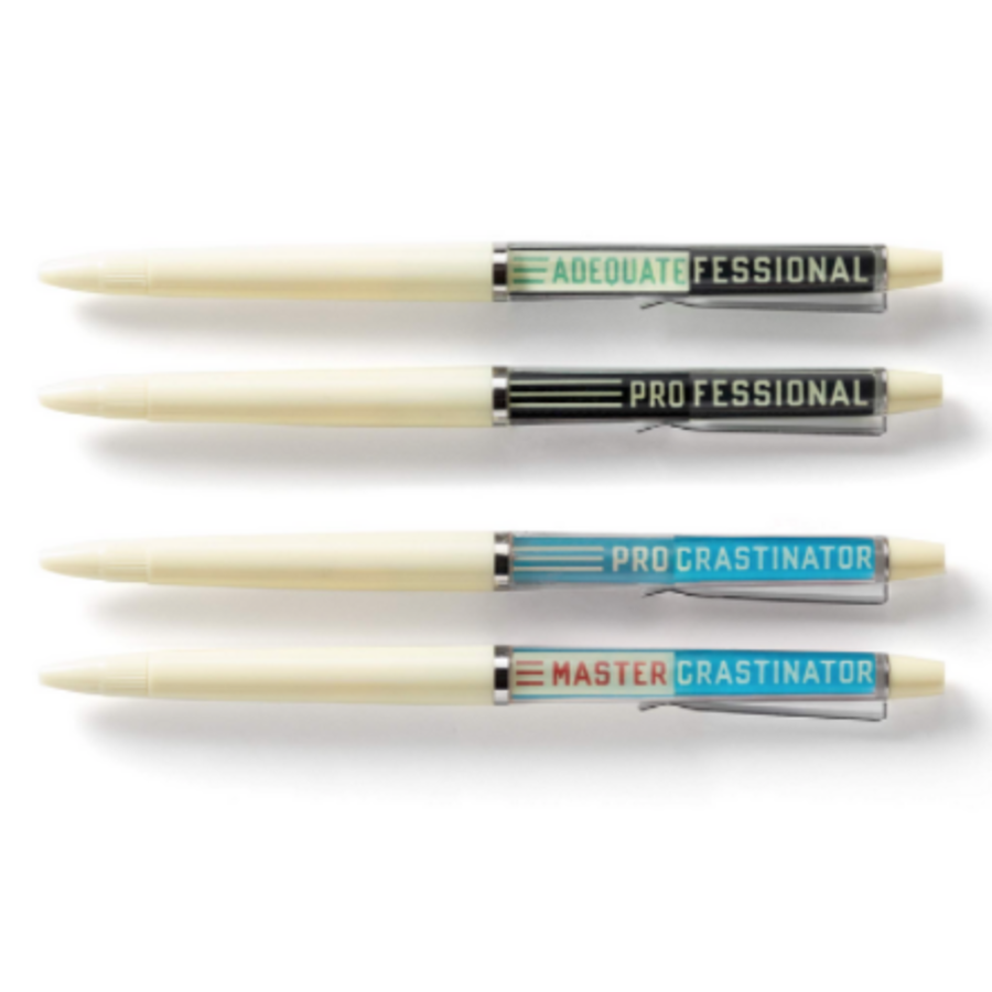 Professional Procrastinator Floaty Pen Set