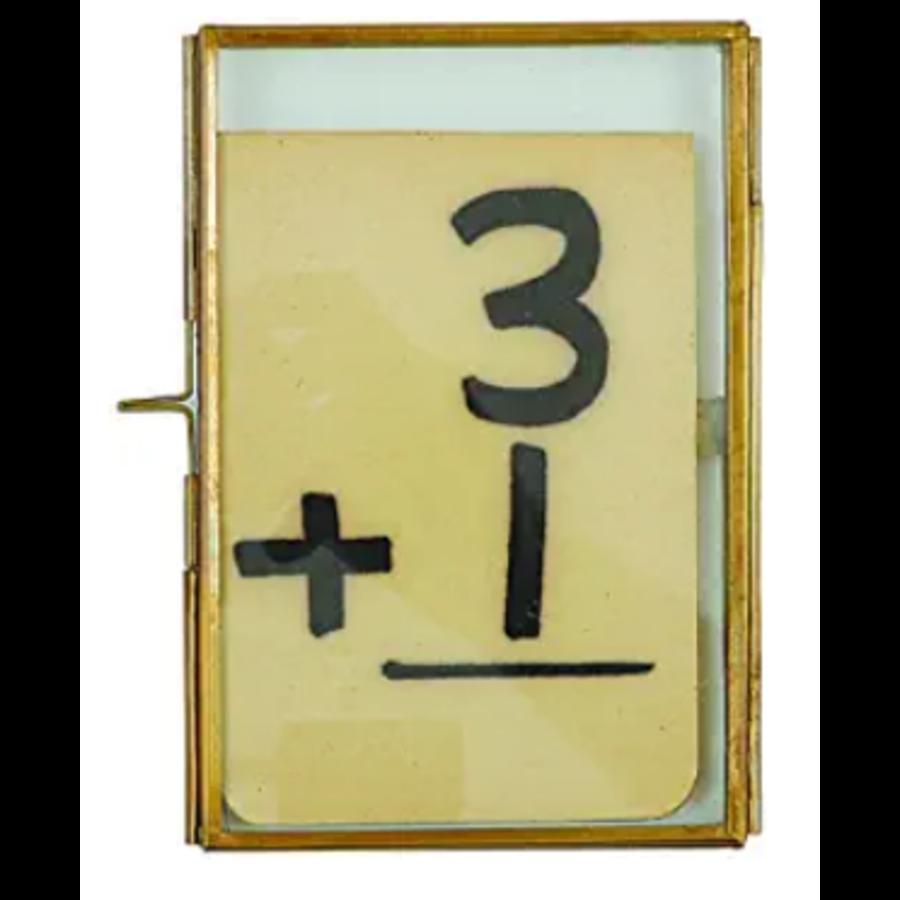 """4x6"""" Brass & Glass Photo Frame"""