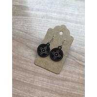 Black Stainless Steel Hogan Earrings