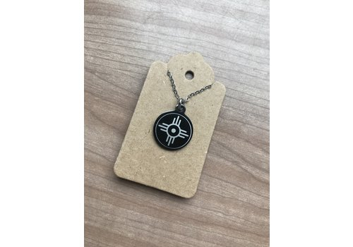 ICTMakers Black Stainless Steel Hogan Necklace