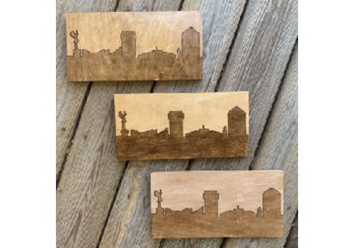 Lindsey Kernodle Woodburnings Two-tone Skyline