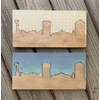 Lindsey Kernodle Woodburnings Painted Two-Tone Skyline