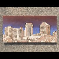 Wichita Skyline Woodburning Blue/Purple Sky