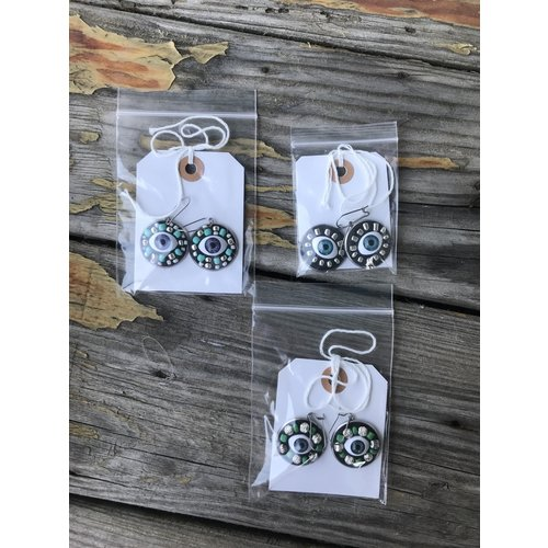The Art Park Assorted, Handcrafted Eye Earrings