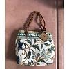 Lamzy Divey Large Textile Purse w/ Leather Handles