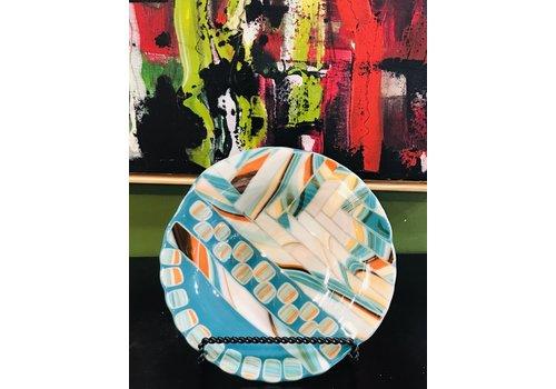 Cindy Raux Orange/Teal Bowl